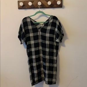 Black and White Checked Madewell Dress